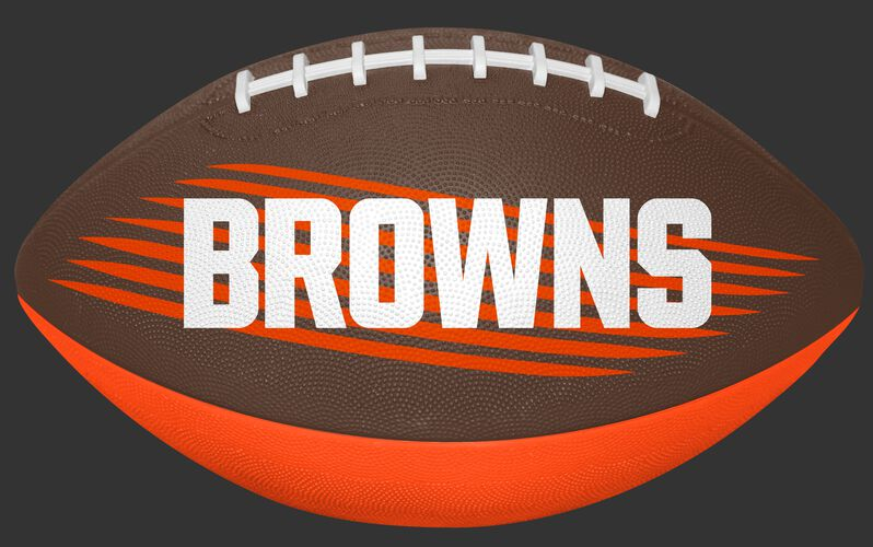 Brown and Orange NFL Cleveland Browns Downfield Youth Football With Team Name SKU #07731064121