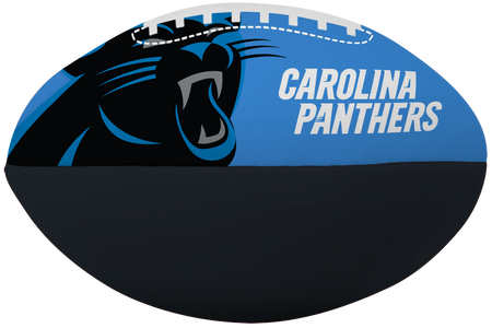 NFL Carolina Panthers Big Boy softee football featuring team logos and printed in team colors