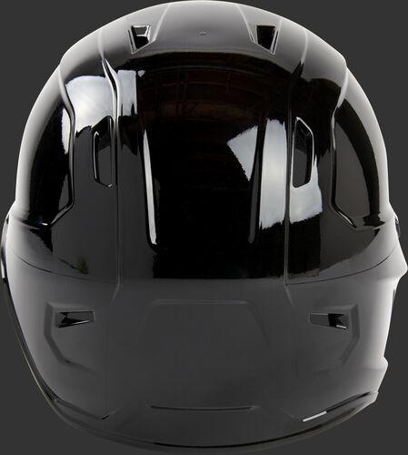 Back of a black Rawlings Mach lefty helmet - SKU: MSE01A-LHB