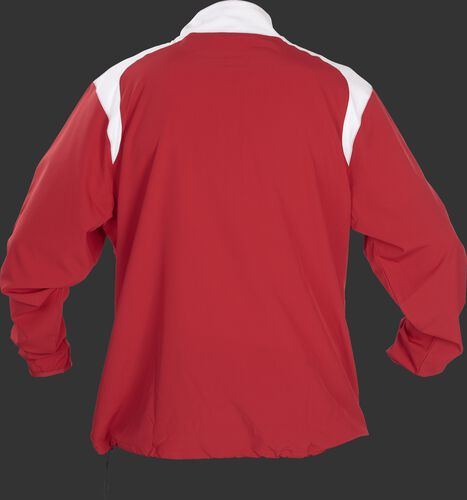 Back of Rawlings Scarlet Youth Long Sleeve Quarter-Zip Jacket - SKU #YFORCEJ-B-89