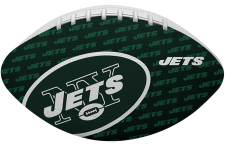 Green side of a NFL New York Jets Gridiron football with the team logo