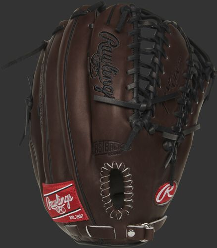 PRO601CHBP Heart of the Hide 12.75-inch outfield glove with a chocolate Fastback design