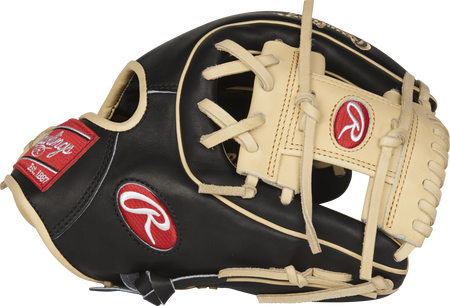Thumb view of a Rawlings PROR314-2BC R2G 11.5-inch infield glove with a camel I web