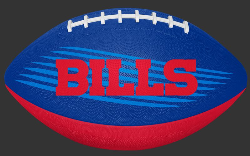 Blue and Red NFL Buffalo Bills Downfield Youth Football With Team Name in Red SKU #07731061121