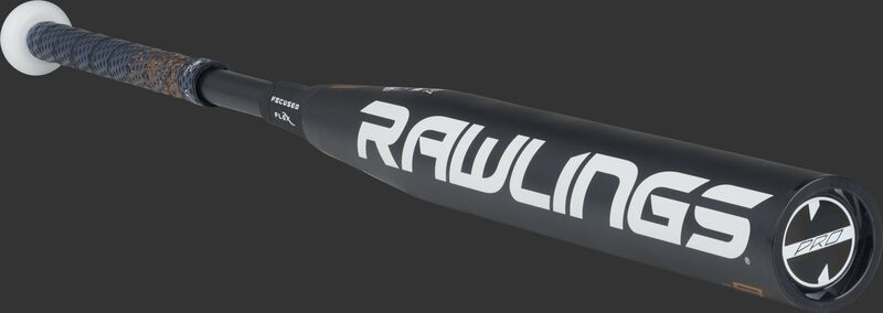 FPZP9 Rawlings fastpitch softball bat with a black barrel and black end cap