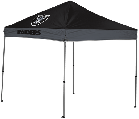 NFL Oakland Raiders 9x9 shelter with team logos and colors