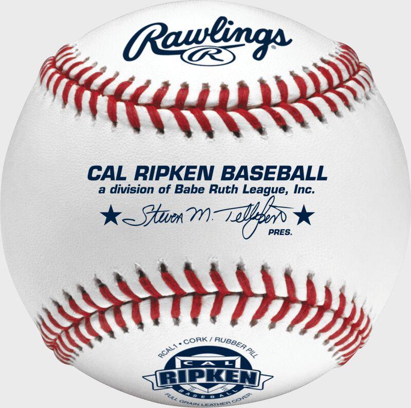 RCAL1 Cal Ripken youth competition grade baseball with raised seams
