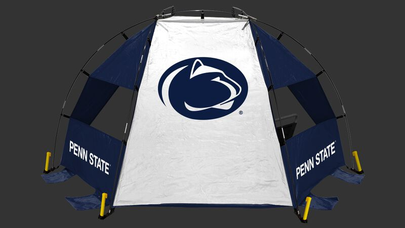 Back of a Penn State Nittany Lions sideline sun shelter with the Nittany Lions logo in the middle - SKU: 00973050111