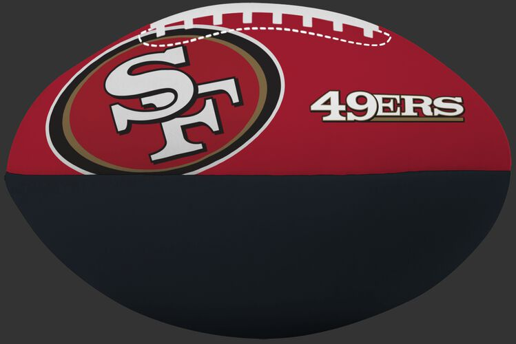 NFL San Francisco 49ers Big Boy softee football featuring team logos and printed in team colors SKU #03211084111