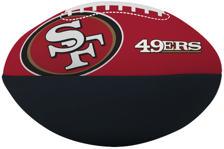 NFL San Francisco 49ers Big Boy softee football featuring team logos and printed in team colors