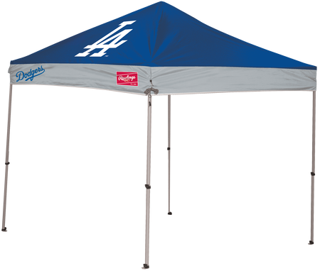MLB Los Angeles Dodgers 9x9 canopy shelter with a large printed team logo and team name on the side