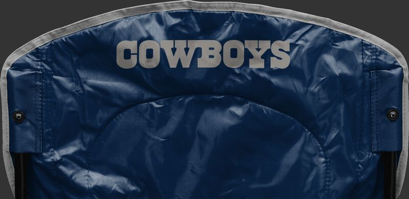 Back of Rawlings Navy Blue NFL Dallas Cowboys Chair With Team Name SKU #02771065111