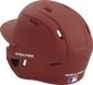 Back left view of a matte cardinal MACH series batting helmet with air vents image number null