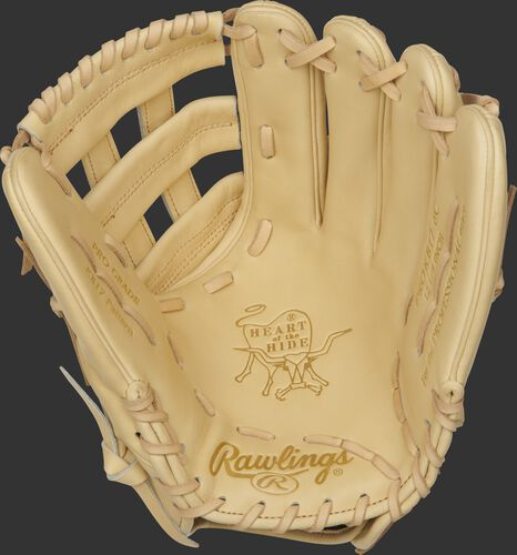 "PROKB17-6C Rawlings Pro Label ""Sand"" glove with a camel palm, web and laces"