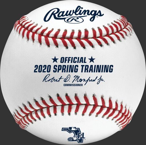 A MLB 2020 Florida Spring Training Baseball with the Official Ball of MLB stamp - SKU: ROMLBSTFL20