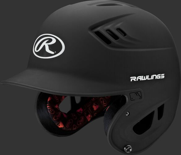 A black R16MS Velo senior batting helmet with Cool-Flo vents