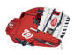 Thumb of a red/white Washington Nationals 10-inch team logo glove with a white I-web and Nationals logo on the thumb - SKU: 22000031111 image number null