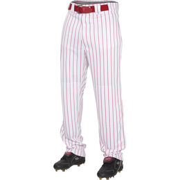 Youth Semi-Relaxed Pinstripe Baseball Pant Scarlet