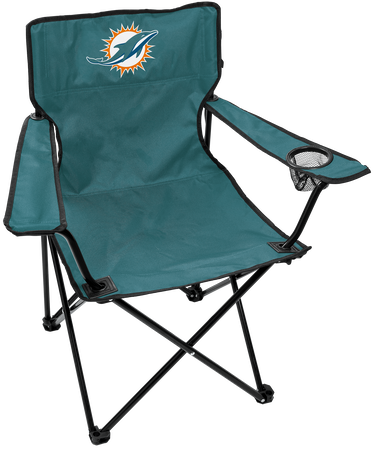 Front of Rawlings Aqua Green NFL Miami Dolphins Gameday Elite Chair With Team Logo SKU #00551074111