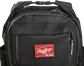 Top front of a black CEO backpack with a Red Rawlings patch and the clips on top - SKU: CEOBP-B image number null