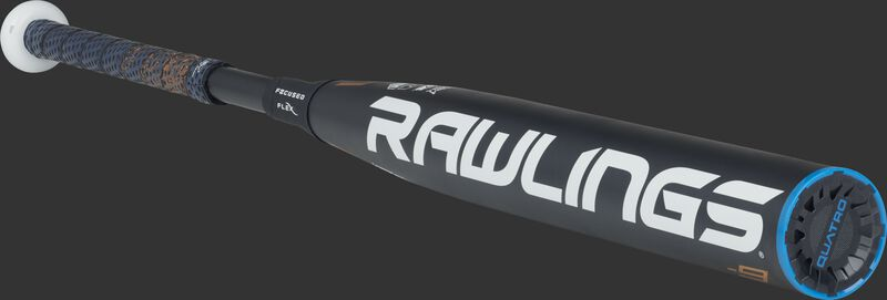 FPPE9 -9 Quatro Pro end-load bat with a navy barrel and navy end cap