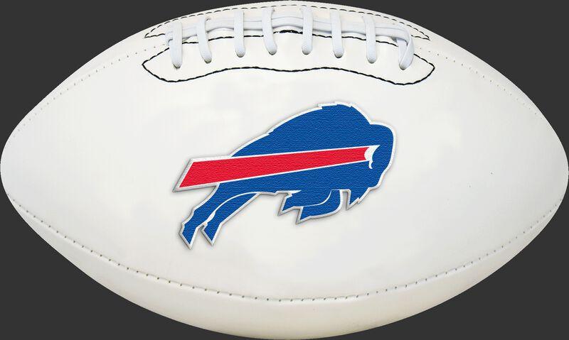 White NFL Buffalo Bills Football With Team Logo SKU #06541061811