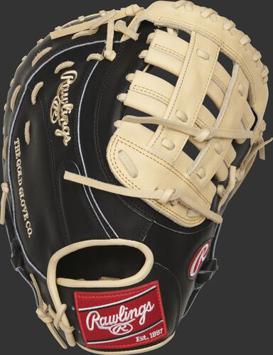 PRORFM18-17BC 12.5-inch Heart of the Hide R2G first base glove with a black back