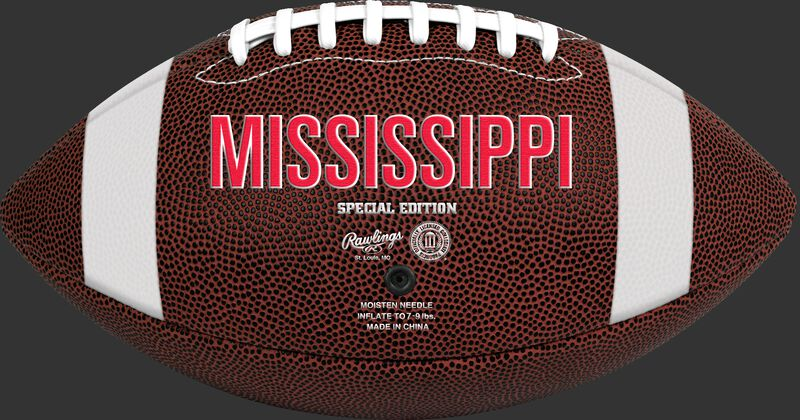 Brown NCAA Ole Miss Rebels Football With Team Name SKU #04623087811