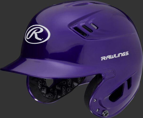 A metallic purple R16S Velo senior batting helmet with Cool-Flo vents