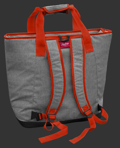 Back of a Cleveland Browns tote cooler with backpack straps - SKU: 10311064111