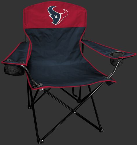 Front of Rawlings Red and Navy NFL Houston Texans Lineman Chair With Team Logo SKU #31021093111