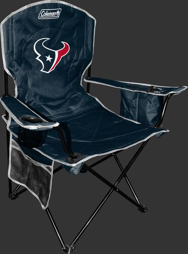 Front of Rawlings Navy Blue NFL Houston Texans Chair With Team Logo SKU #02771093111