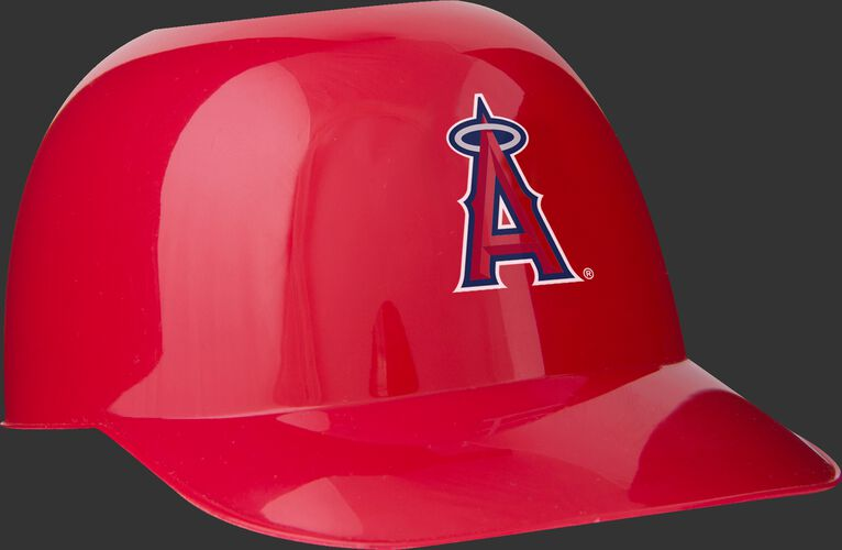 Front of Rawlings Red MLB Los Angeles Angels Snack Size Helmets With Team Logo SKU #01950001122
