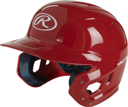 Left angle view of a scarlet MCC01 Mach ventilated gloss helmet