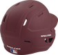 Back right of a one-tone matte maroon MACH Rawlings batting helmet image number null
