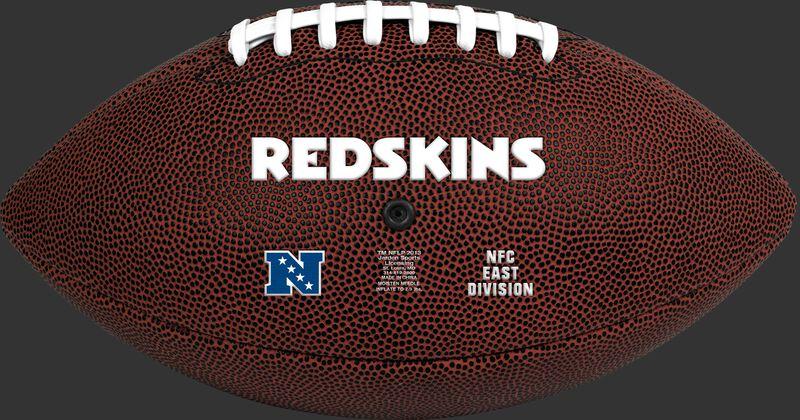 Brown NFL Washington Redskins Football With Team Name SKU #07081087811
