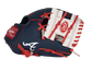 Thumb of a navy/white Atlanta Braves 10-inch team logo glove with a white I-web - SKU: 22000005111 image number null