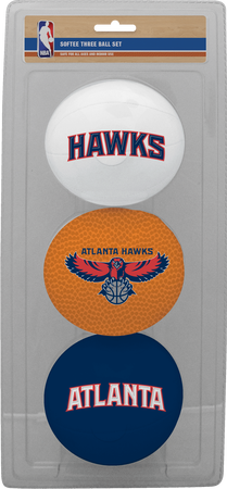 NBA Atlanta Hawks Three-Point Softee Basketball Set