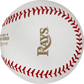 The Tampa Bay Rays logo stamped in gold on the 2020 dueling World Series ball - SKU: EA-WSBB20DL-R image number null