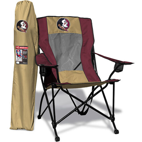 Front of Rawlings Gold and Garnet NCAA Florida State Seminoles High Back Chair With Team Logo SKU #09403020518