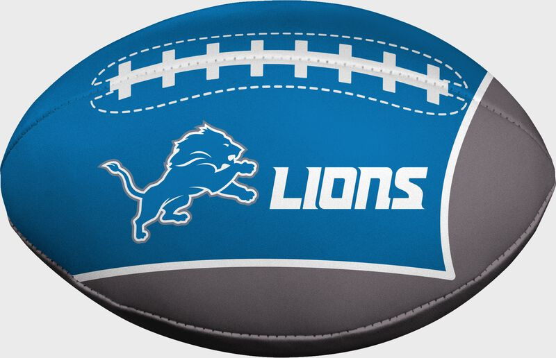 Blue and Grey NFL Detroit Lions Football With Team Logo and Name SKU #07831067114