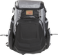 Front of a black/gray R1000 Rawlings Gold Glove backpack with a gold patch image number null