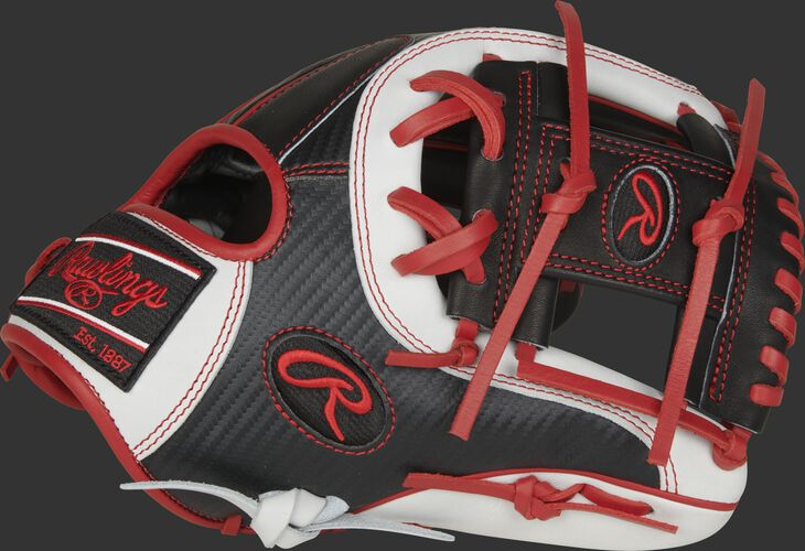 Thumb of a white/black 2021 Heart of the Hide Hyper Shell infield glove with a white I-Web - SKU: PRO204-2BSCF