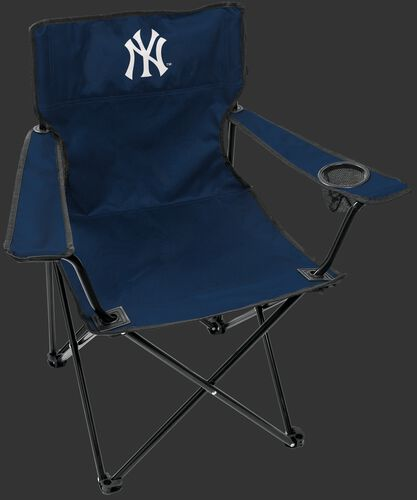 Front of Rawlings Navy Blue MLB New Youk Yankees Gameday Elite Chair With Team Logo SKU #06110030111