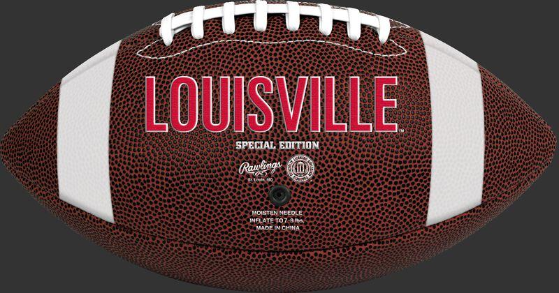 Brown NCAA Louisiana Ragin' Cajuns Football With Team Name SKU #04623078811