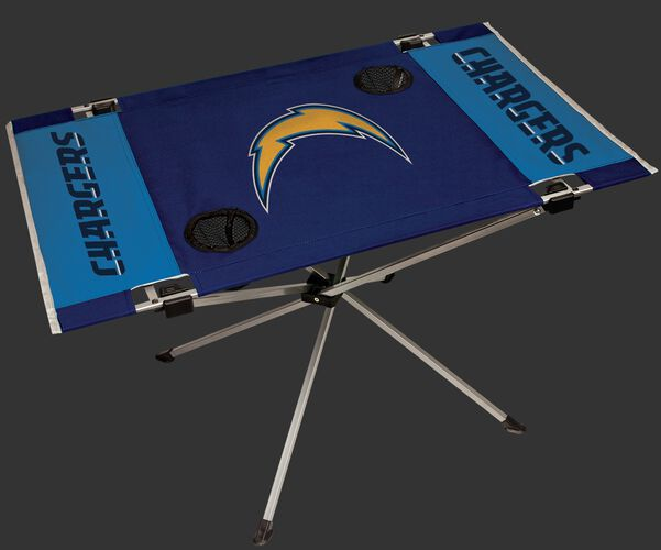 Rawlings Navy and Blue NFL Los Angeles Chargers Endzone Table With Two Cup Holders, Team Logo, and Team Name SKU #03391083111