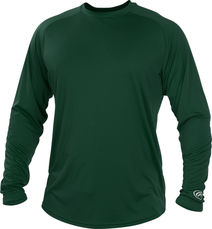 Dark Green YLSRT Youth crew neck long sleeve shirt