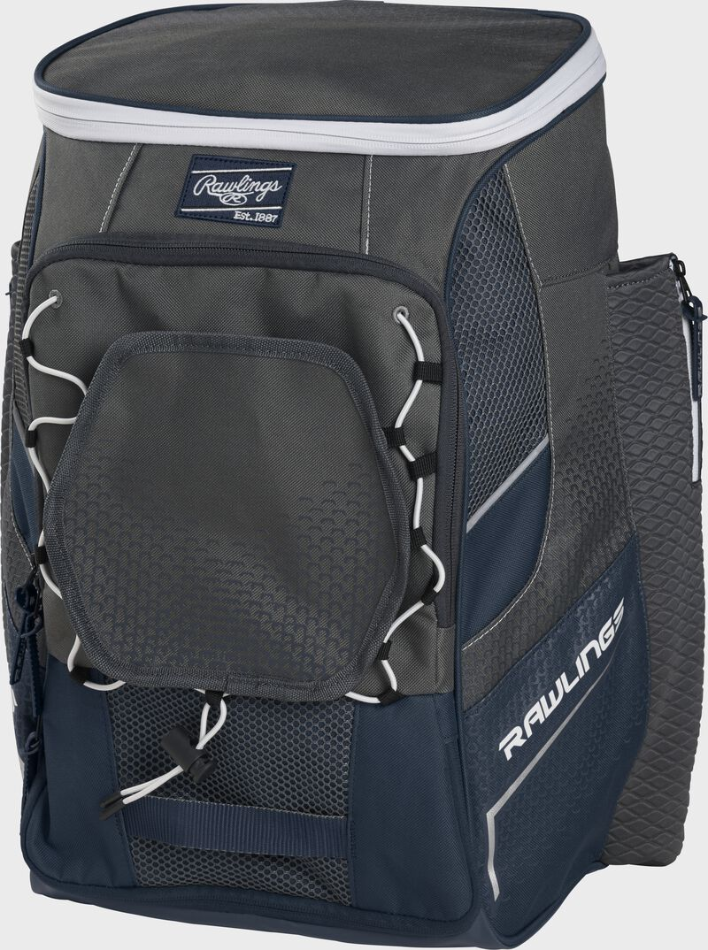 Front right angle of a navy Impulse backpack - SKU: IMPLSE-N
