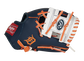 A navy/white Detroit Tigers 10-Inch team logo glove with a white I-web and Detroit logo on the thumb - SKU: 22000027111 image number null