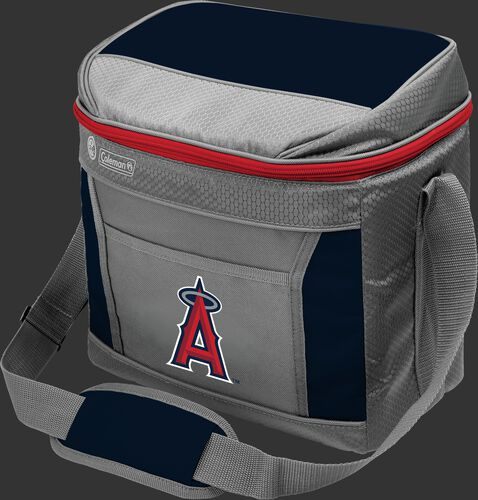 Rawlings Los Angeles Angels 16 Can Cooler In Team Colors With Team Logo On Front SKU #03140001111